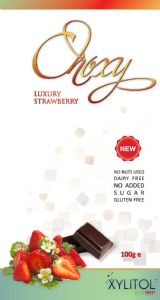 Xylitol Chocolate Strawberry 100g bar